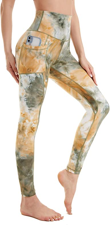 Leggings Tie Dye Yoga Pants for women one size supersoft and stretchy