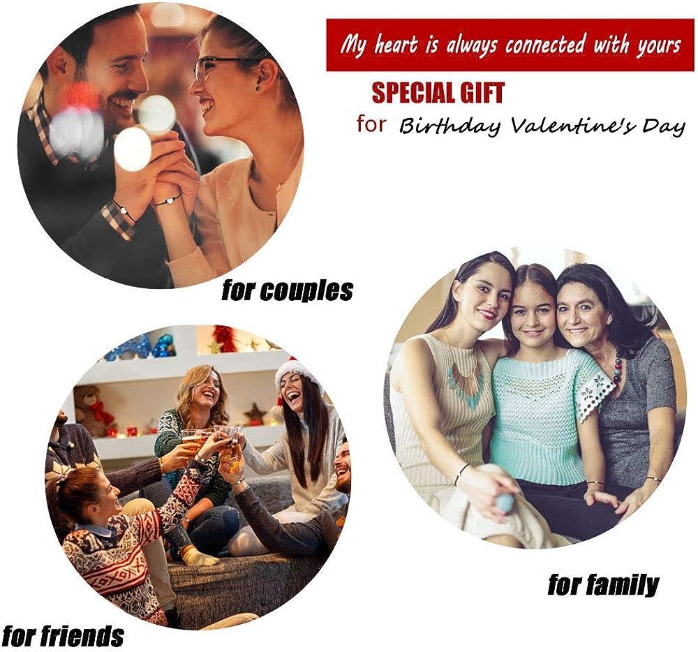 BOCHOI Pinky Promise Amistad Pulseras Juego 2PCS para BFF Mujeres Ni/ñas Madre Novia Novio Hija Parejas Regalo de Graduaci/ón