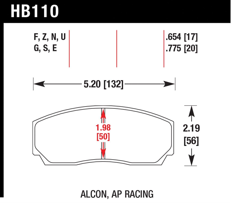 Hawk Performance HB110U.775 Disc Brake Pad HAW:HB110U.775