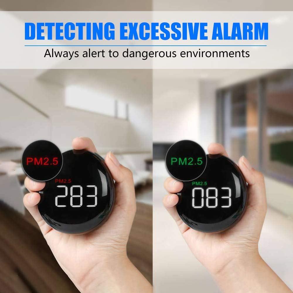 InLoveArts Moniteur de qualit/é de lair d/étecteur de compteur de PM2,5 int/érieur//ext/érieur avec temp/érature et humidit/é pour voiture de bureau /à domicile