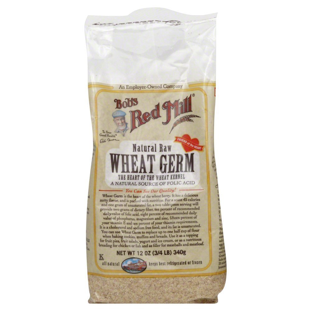 Bobs Red Mill Wheat Germ Raw Natural 12.0 OZ(Pack of 6)