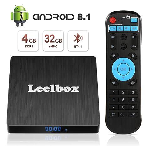 tv box android 8.1 4gb 64 gb telecomando vocale  Android 8.1 TV Box, Android Box 4 GB RAM 32 GB ROM, Leelbox Q4s ...