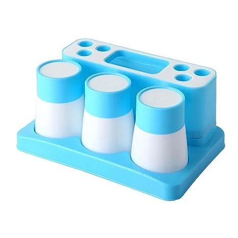 yiuhart plástico baño cepillo de dientes pasta de dientes soporte