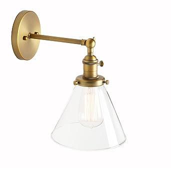 Jour Entonnoir Pathson Réglable Murale Verre Plafonnier Eclairage Antique Rétro Applique Industrial Luminaire Lampe Abat mwN80vnO