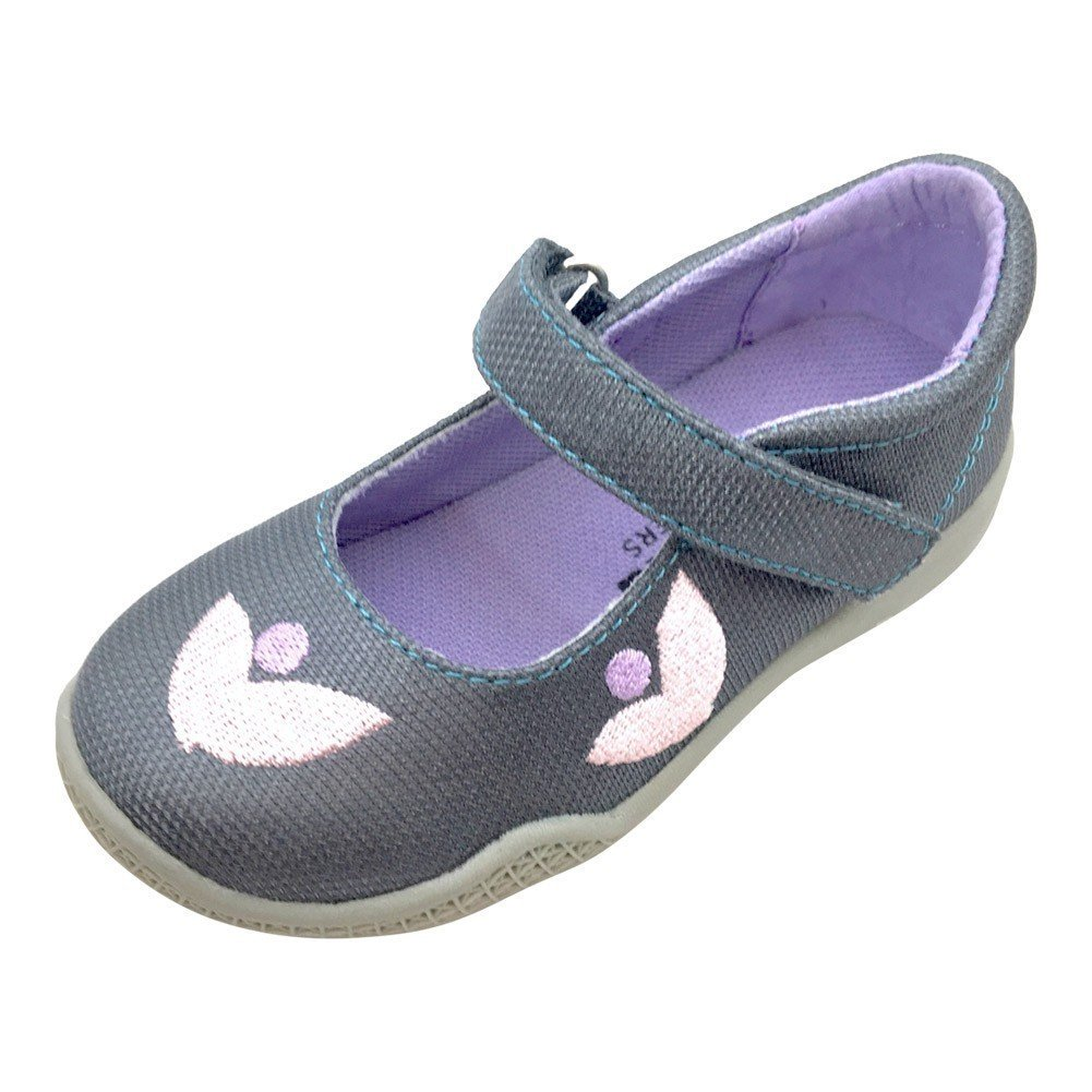 Mooshu Trainers Little Girls Charcoal Squeaky Stella Mary Jane Shoes 6 Toddler