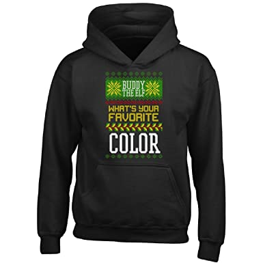 buddy the elf favorite color ugly christmas sweater gift boy boys hoodie - Buddy The Elf Christmas Sweater