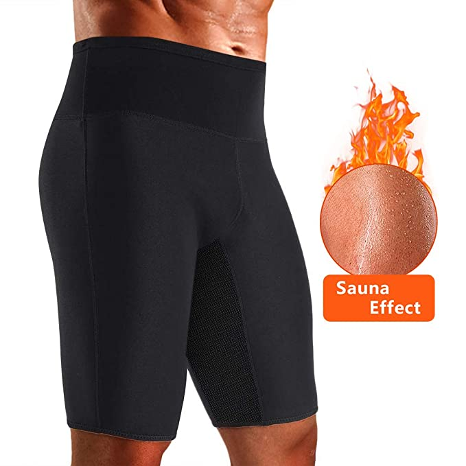 961cd61fd5 Men s Weight Loss Sauna Hot Sweat Thermo Shorts Body Shaper Neoprene  Athletic Pants Gym Tummy Fat