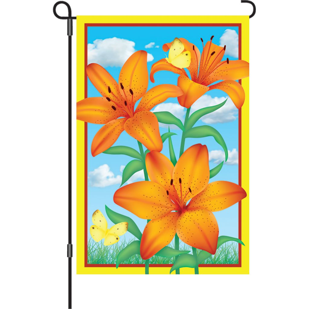Premier 51429 Garden Brilliance Flag, Tiger Lily, 12 by 18-Inch