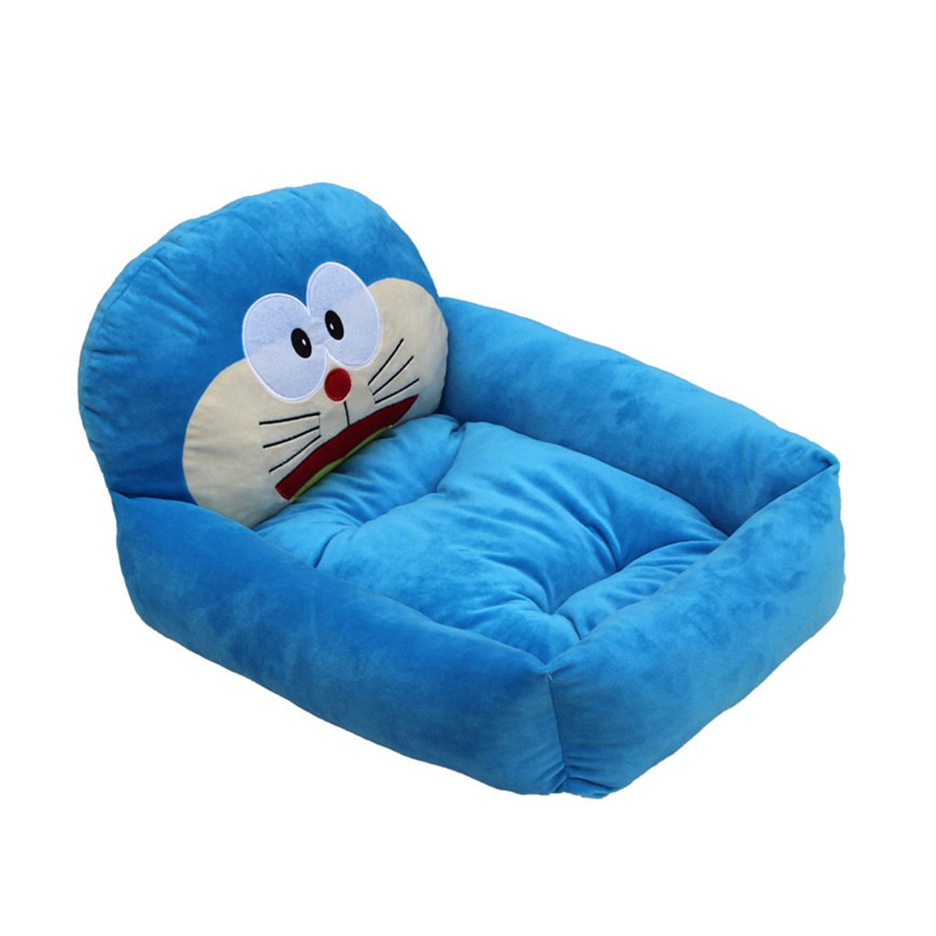 bluee Large bluee Large Dogs Beds Furniture Bed Blankets Kennel Teddy Bichon Dog Litter Cat Litter Small Medium Dog Cartoon Dog Bed Pet Supplies Bath Cushion Cat pet (color   bluee, Size   L)
