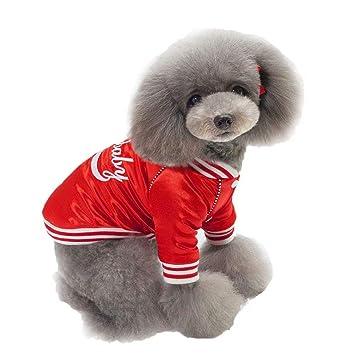 NFYOI Ropa para mascotas para perro gato cachorro perro abrigo cálido, S-XXL suave