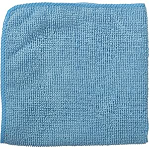 "Rubbermaid Commercial 1820579 Microfiber economy cloth, 12""x12"", Blue (Pack of 24)"