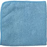 Rubbermaid Commercial 1820579 Microfiber economy cloth, 12''x12'', Blue (Pack of 24)