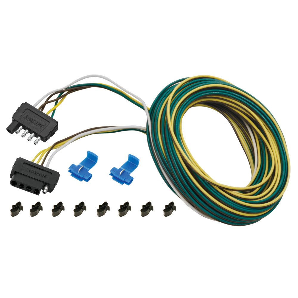 61vhI1jDjUL._SL1000_ amazon com 5 way wishbone trailer wiring kit 25' automotive Ford 7 Pin Trailer Wiring at gsmx.co