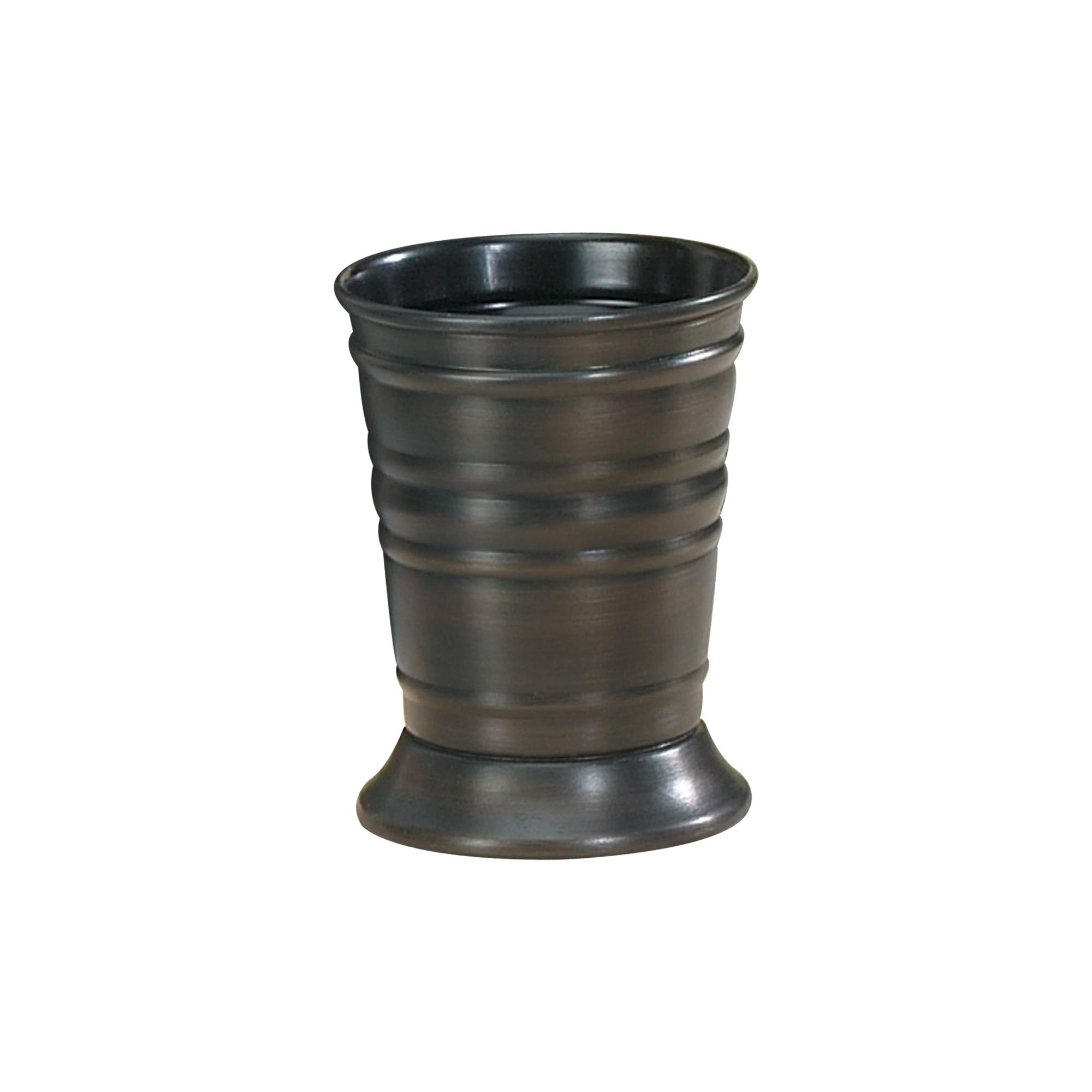 nu steel Bogart Collection Decorative Makeup Brush Cup Holder Tumblers for Bathroom Countertops, Desk, Dorm, and Vanity ORB Finish by nu steel