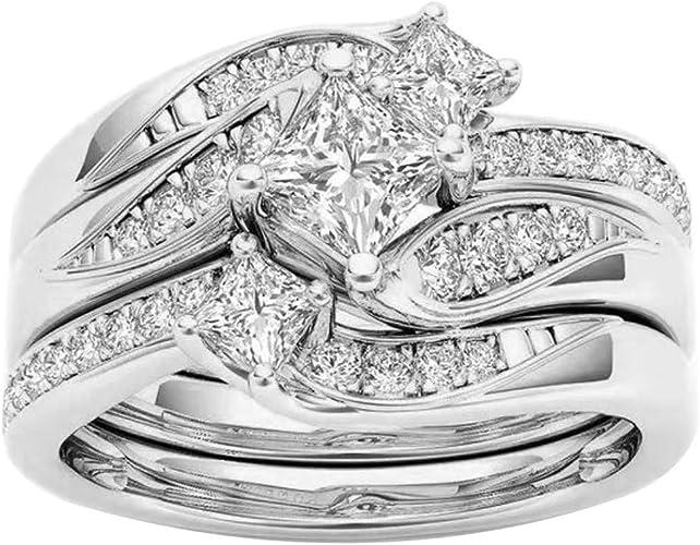 rosa ring crystal neue verlobung schmuck frauen versilbert