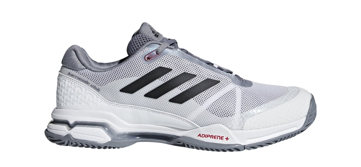 adidas Performance  Men's Barricade Club Tennis Shoe, White/Black/Grey, 11 M US by adidas