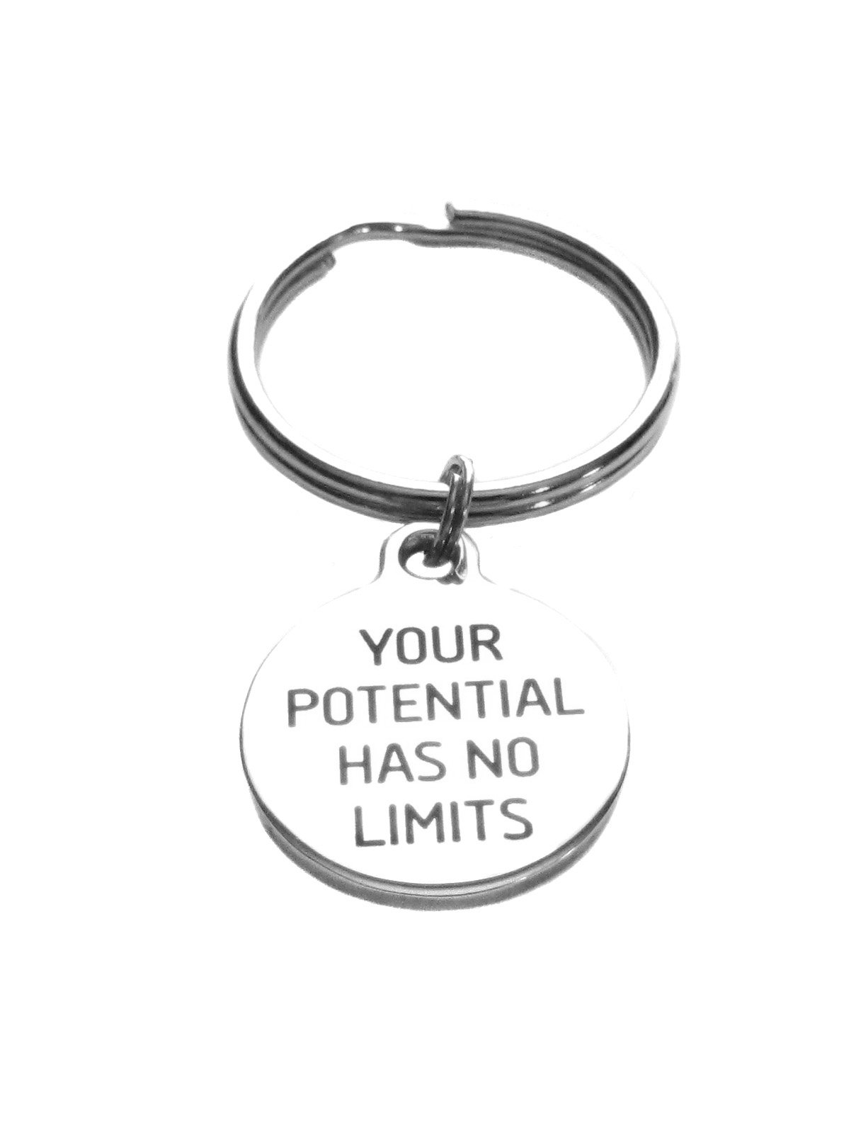 Your Potential Has No Limits Stainless Steel Charm Key Chain Inspirational Gift