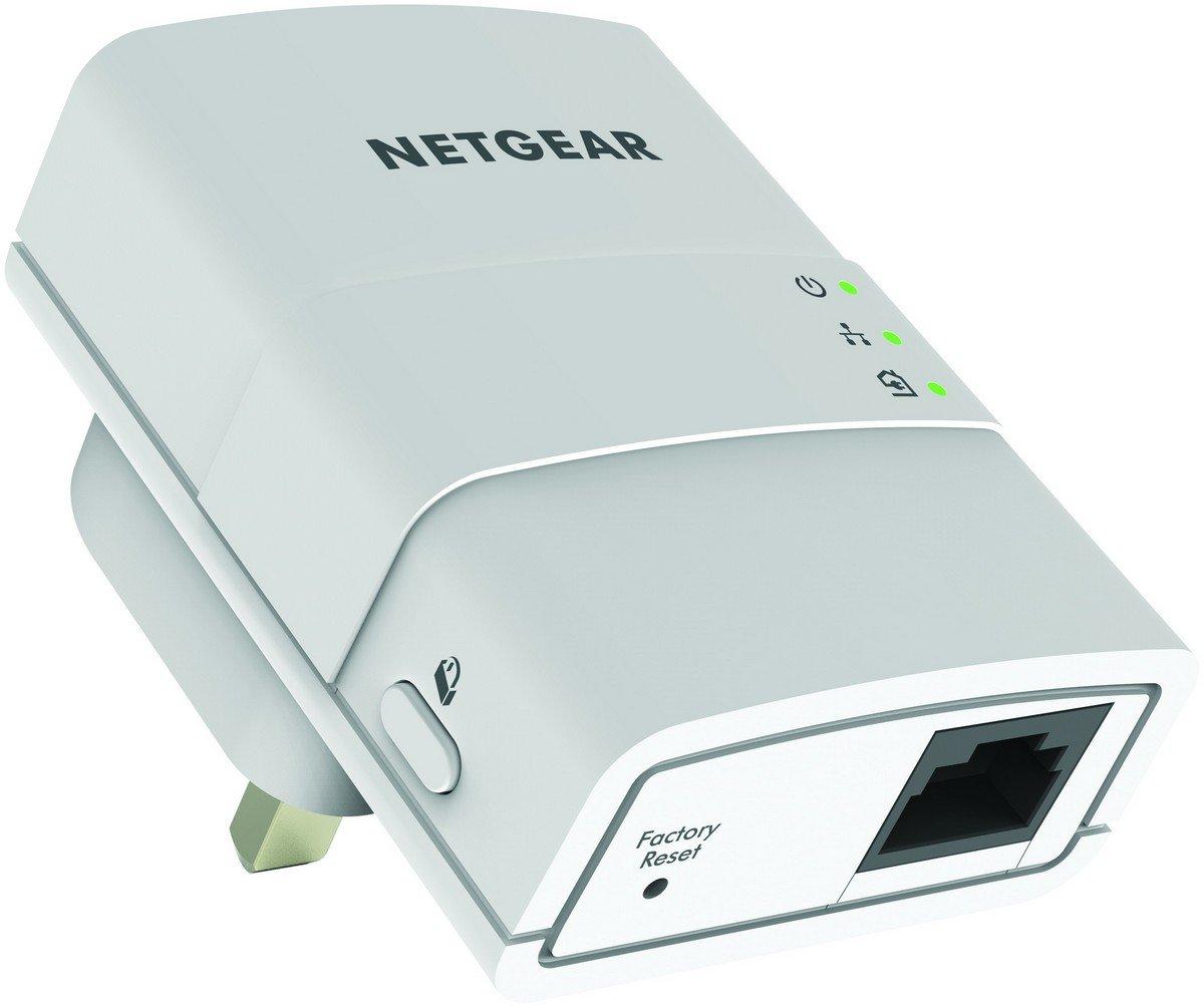 NETGEAR XAVB5221-100UKS 1 Port 500 Mbps Powerline Adapter (Pack of 2 ...