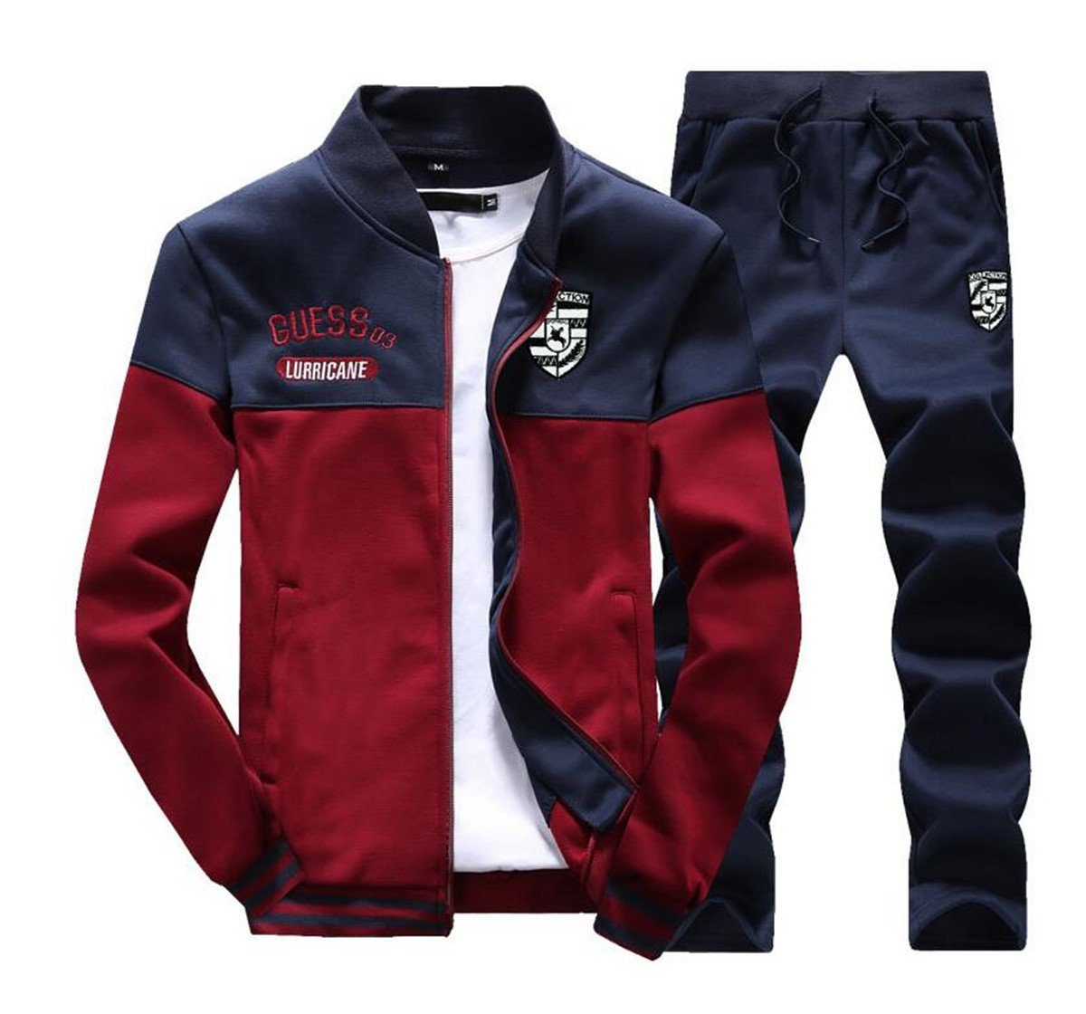 BCSY Mens Slim Fit Jogging Sweat Suits Casual Tracksuits + Pants