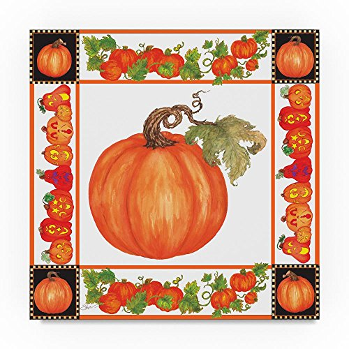 Trademark Fine Art Fall Festival Pumpkin Plaque Napkin