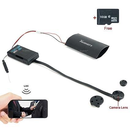 16GB 1280x720P HD Mini Cámara Espía Botón DIY Cámara de Drone Soporta P2P Vista y Control