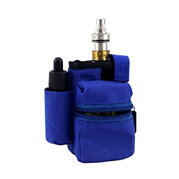 H&W Anti Desgaste Vapeador Bag E-cigarrillo Ahumado Bolsa de Transporte Azul
