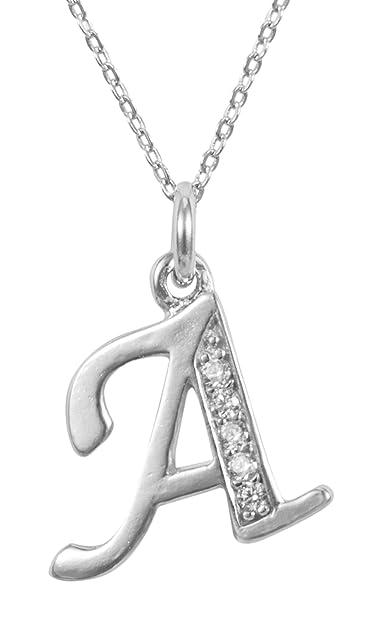 f42e1dd1156ad Amazon.com: Adabele Sterling Silver Letter Pendant Necklace 16 ...