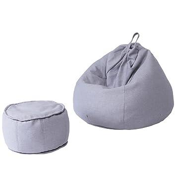 Sitzsäcke 2 Stück Fußbank Liege Sofa Wohnzimmer Kleine Wohnung Abnehmbare  Und Waschbar Lazy Chair (Farbe