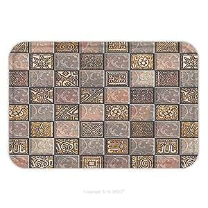 Franela de microfibra antideslizante suela de goma suave absorbente Felpudo alfombra alfombra alfombra azulejos decor 454765957para interior/exterior/cuarto de baño/cocina/Estaciones de trabajo