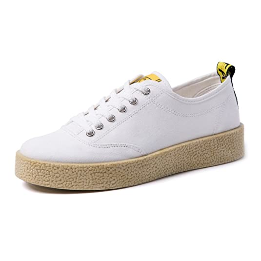 ZX Lederturnschuhe, Flache Männer Sportschuhe Casual PU Loafers Low Top Starke Sohle Aussensohle Schnürschuhe (Farbe : White, Size : 42 EU)