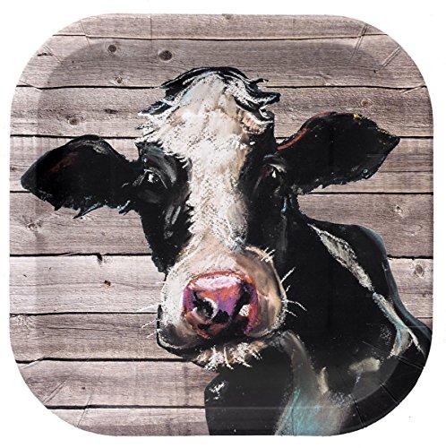 Farm Table Cow Plate (9