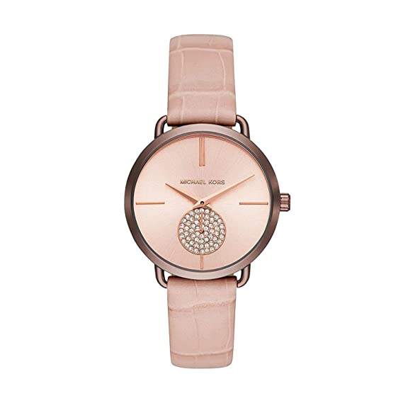 Michael Kors Reloj Analogico para Mujer de Cuarzo con Correa en Cuero MK2721: Amazon.es: Relojes
