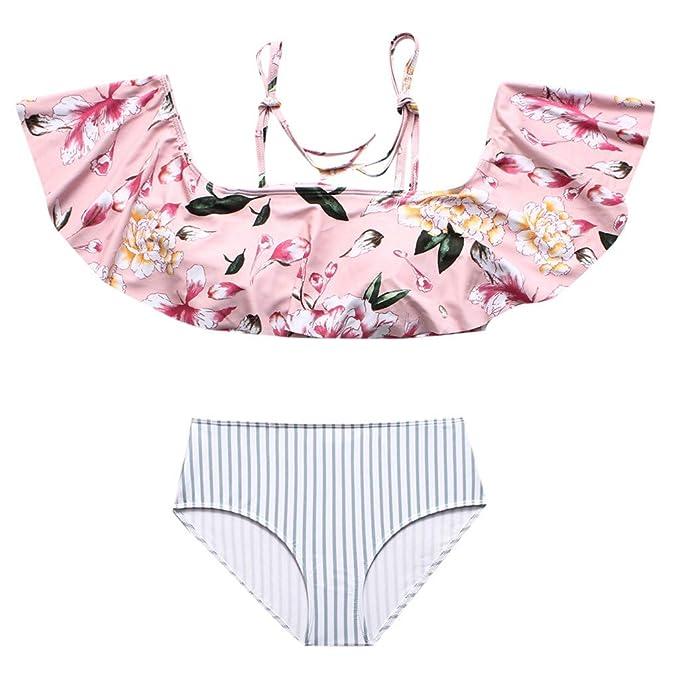 4633543f4ca4 VECDY Moda Conjunto De Trajes De Baño para Mujer Cintura Alta con ...