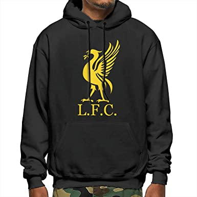 Takeyia Mens Liverpool-Football-Logo Hoodies for Adult Man Hoodies Black Hoodies