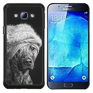 TECHCASE---Cubierta de la caja de protección para la piel dura ** Samsung Galaxy A8 ( A8000 ) ** --Invierno Moda Perro australiano del ganado Mutt