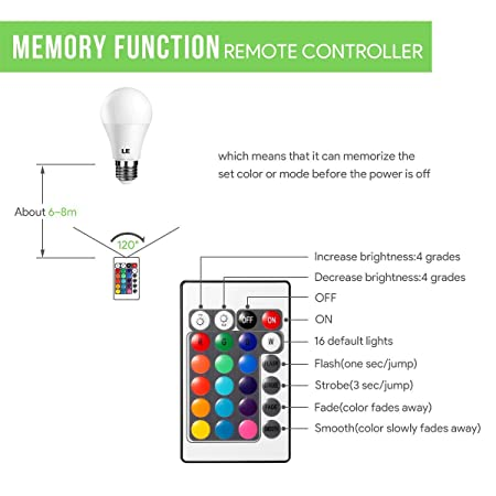 holiday brilliance light controller wiring diagram wiring diagramle a19 e26 led light bulb, 40 watt incandescent equivalent, rgbwle a19 e26 led
