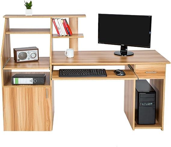TecTake Mesa de Ordenador de Escritorio Estudiante PC Trabajo con ...