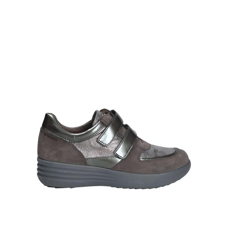 Stonefly Romy 16 Velour/Pat, Zapatos con Plataforma para Mujer 38 EU|Gris