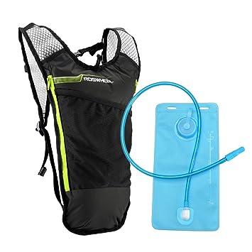 Lixada Mochila Hidratación 5L Mochila + 2L Bolsa de Agua Súper Ligero para Bicicleta Ciclismo Senderismo Excursionismo (Verde): Amazon.es: Deportes y aire ...