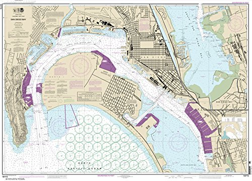 NOAA Chart 18773: San Diego Bay, 35.5 X 49.4, TRADITIONAL PAPER