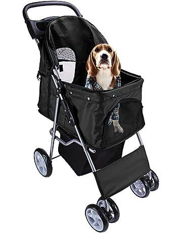 DISPLAY4TOP Carrito de 4 Ruedas para Mascotas Perros Gatos Animales Plegable Impermeable para Viaje Paseo (