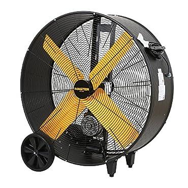 "Master MAC-36BDF Wheeled 36"" High Capacity Belt Drive Barrel Fan"
