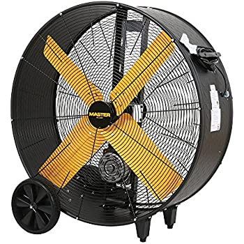 amazon com: maxxair bf24tfyelups 24-inch high velocity drum fan, two on
