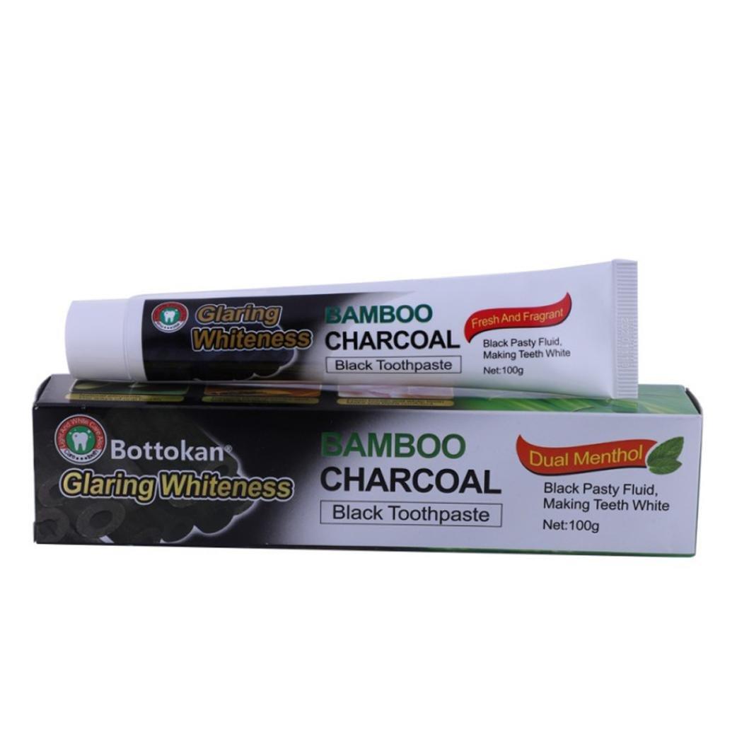 Coromose Teeth Whitening Powder Organic Activated Charcoal Bamboo Toothpaste +Brush Coromose-123