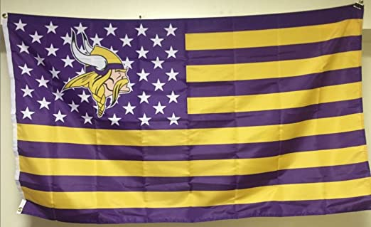 Amazon.com: Vikings Stars & Stripes Bandera 3 x 5 pies ...