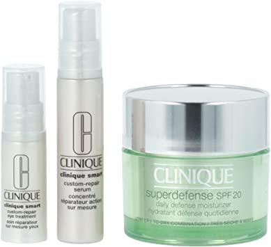 Clinique Superdefense Crema Facial + Serum + Crema para Ojos - 1 Pack: Amazon.es: Belleza