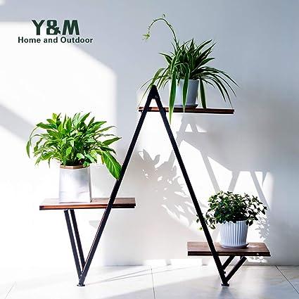 Amazoncom Ym 3 Tier Metal Plant Stand Flower Pots Stander