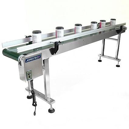 Amazon com: JORESTECH Motorized Belt Conveyor, 12 x 82 Inch