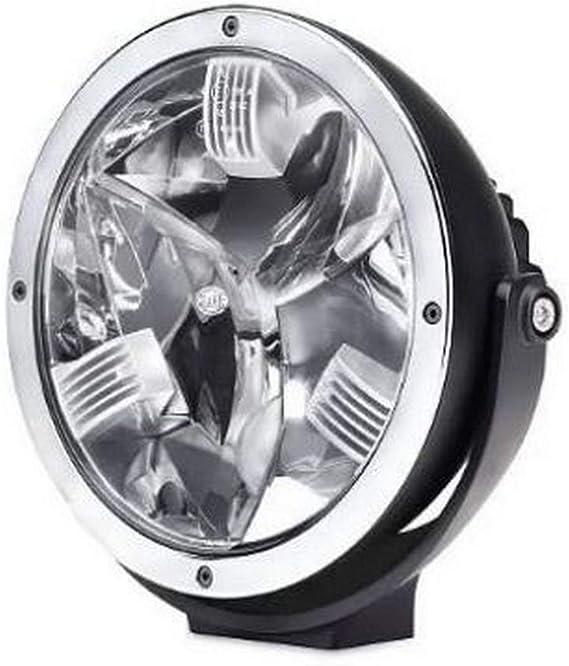Hella 1f8 011 002 211 Fernscheinwerfer Luminator Led 12v 24v Rund Ref 50 Glasklare Streuscheibe Transparent Anbau Einbauort Links Rechts Auto