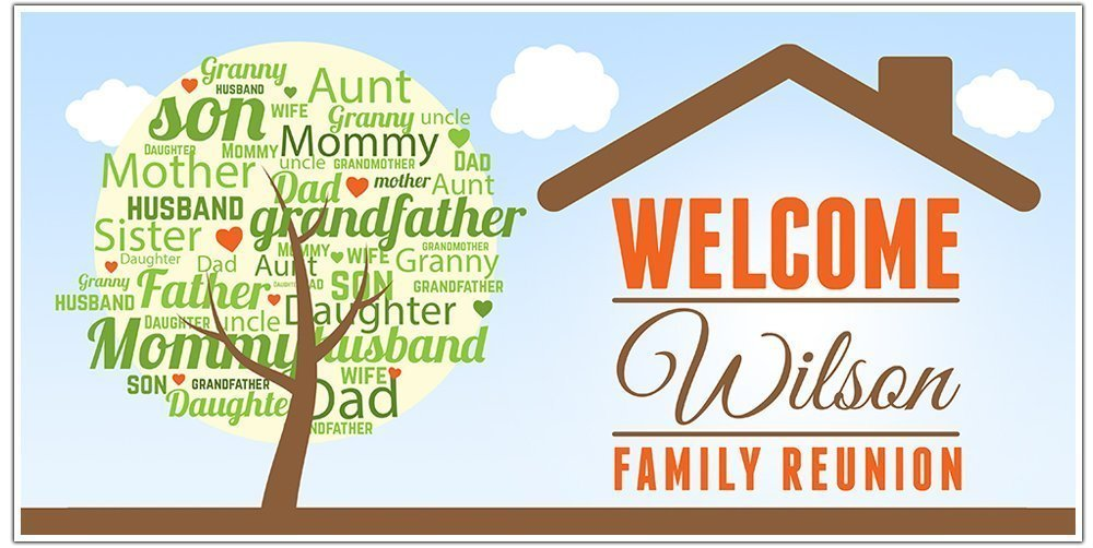 Amazon Com Family Reunion Party Banner Personalized Party